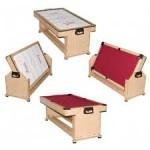 Игровой стол - трансформер (пул + аэрохоккей) Twister (дуб)